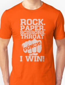 Funny Game Quotes, Rock Paper Scissors, Throat Punch T-Shirt Unisex T-Shirt