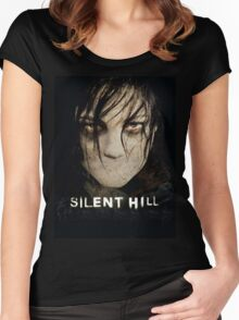 Silent Hill mouth Women's Fitted Scoop T-Shirt