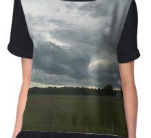 Storm over Wisconsin Farm Chiffon Top