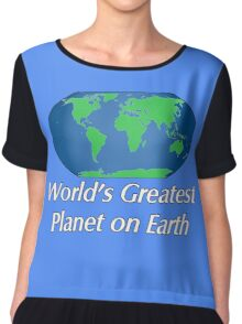 World's Greatest Planet on Earth Chiffon Top