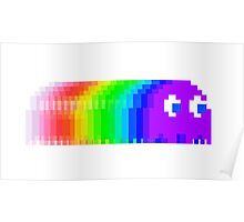 Pac-Man Ghost Fade Poster