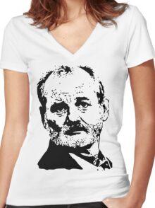 Bill Face Women's Fitted V-Neck T-Shirt
