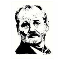 Bill Face Art Print