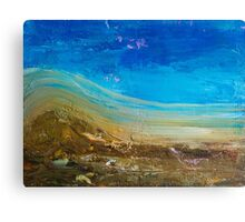 Blue Windswept Abstract Painting Canvas Print