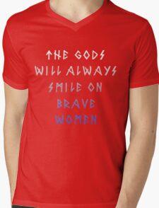 Brave Women Mens V-Neck T-Shirt