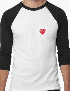 CDG Play Comme Des Garcon Men's Baseball ¾ T-Shirt