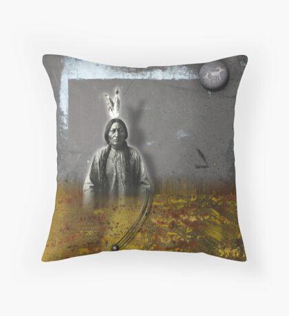 crazy horse Throw Pillow