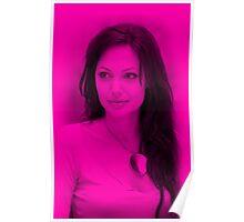 Anjelina Joly - Hot Celebrity (Magenta) Poster