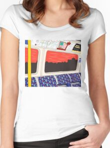 View from London Jubilee Line Women's Fitted Scoop T-Shirt