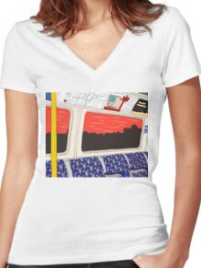 View from London Jubilee Line Women's Fitted V-Neck T-Shirt
