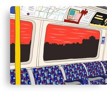 View from London Jubilee Line Canvas Print