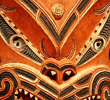 Maori Carving Detail by Alison Hindenlang