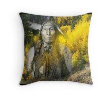 wolf robe Throw Pillow