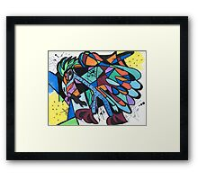Caught by The Hawk Framed Print