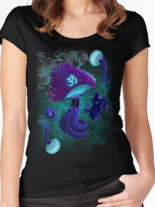 Psychedelic om shroom Women's Fitted Scoop T-Shirt