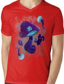 Psychedelic om shroom Mens V-Neck T-Shirt