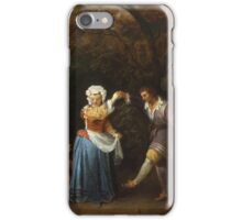 Jean-Antoine Watteau - The Country Dance.Family portrait: father and son, mother and daughter, female and male, dad daddy, child baby, beautiful dress, lovely family, mothers day, memory, mom, friends iPhone Case/Skin