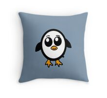 Chibi Penguin Character  Throw Pillow