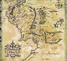 Map of Middle Earth by FrodoBaggins