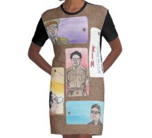 Kim Jong Il Graphic T-Shirt Dress