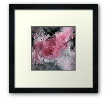 Abstract Acrylic Painting RED BLACK and WHITE Framed Print