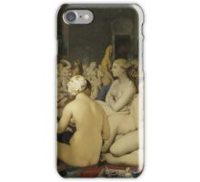 Jean-Auguste-Dominique Ingres - Le Bain Turc. Woman portrait: sensual woman, girly art, female style, pretty women, femine, beautiful dress, cute, creativity, love, sexy lady, erotic pose iPhone Case/Skin