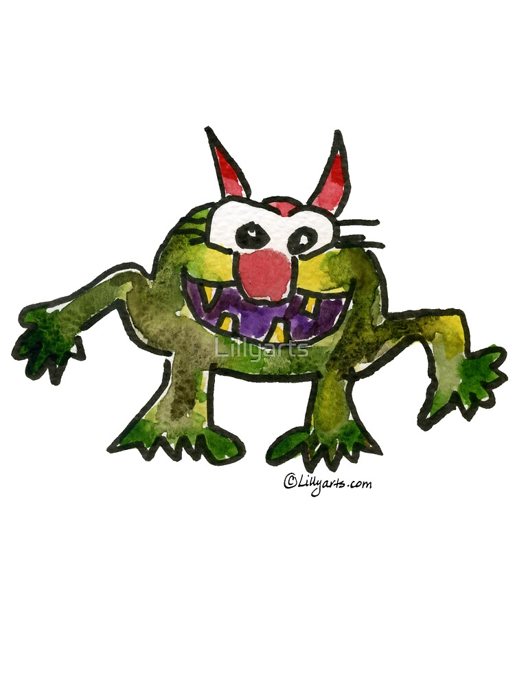 Funny Cartoon MonSTAR Monster 006 by Lillyarts