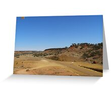 The narrow sealed road from Boulia, Cawnpore lookout. Cent. Que. Greeting Card