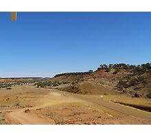 The narrow sealed road from Boulia, Cawnpore lookout. Cent. Que. Photographic Print