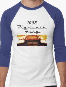 Christine - 1958 Plymouth Fury (Fire) Men's Baseball ¾ T-Shirt