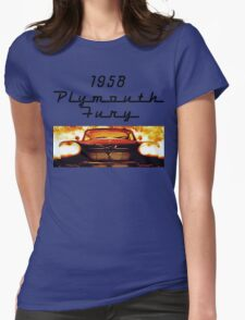 Christine - 1958 Plymouth Fury (Fire) Womens Fitted T-Shirt