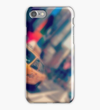 new york city times square taxi iPhone Case/Skin