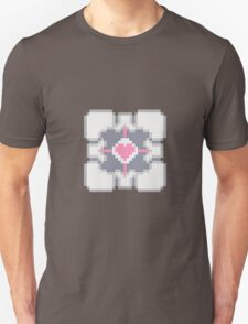 Portal - Companion Cube Pixl8ed Unisex T-Shirt