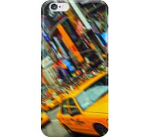 new york times square nyc skyline cityscape taxi cab iPhone Case/Skin