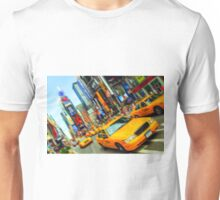new york times square nyc skyline cityscape taxi cab Unisex T-Shirt