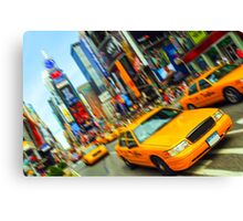 new york times square nyc skyline cityscape taxi cab Canvas Print