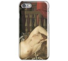 Jean-Auguste-Dominique Ingres - Odalisque With A Slave. Woman portrait: sensual woman, girly art, female style, pretty women, femine, beautiful dress, cute, creativity, love, sexy lady, erotic pose iPhone Case/Skin