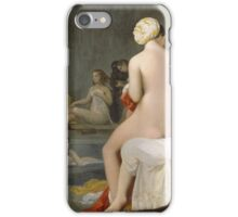 Jean-Auguste-Dominique Ingres - The Small Bather. Woman portrait: sensual woman, girly art, female style, pretty women, femine, beautiful dress, cute, creativity, love, sexy lady, erotic pose iPhone Case/Skin