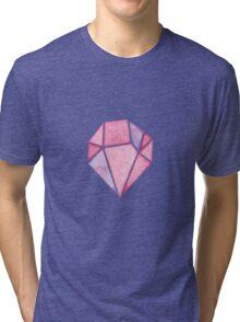 Pink Diamond Geometric Tri-blend T-Shirt