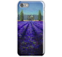 Plein Air Lavender Landscape and Farm House Impressionistic Painting iPhone Case/Skin