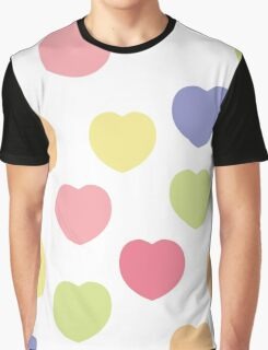 Beautiful heart shape texture isolated on white Graphic T-Shirt