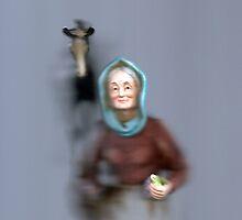 Grandma with horse emerging by Michael Ryan