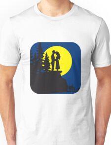 full moon romance love couple Unisex T-Shirt