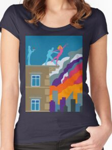 Dancing on the Edge of Eternity Women's Fitted Scoop T-Shirt