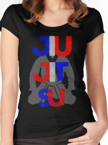 Red, White, and Blue Jitsu Women's Fitted Scoop T-Shirt