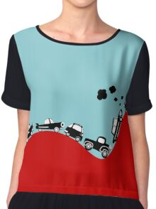 Rally Retro Car Chiffon Top