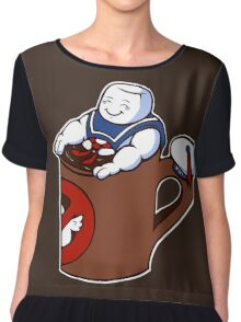 Cup of Stay Puft Chiffon Top