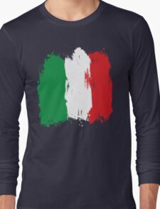 Italy - Paint Splatter Long Sleeve T-Shirt