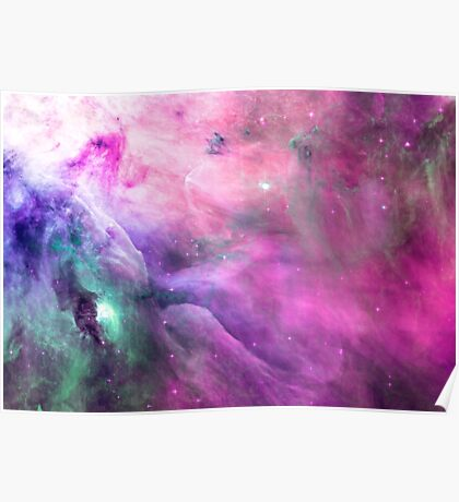 Orion Nebula [Pink Clouds] Stickers and Shirts Poster