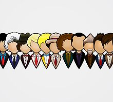 Doctor Who - All Doctors by johnnyisorena